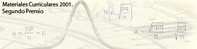 Imagen de distribución normal y fórmulas de estad�stica