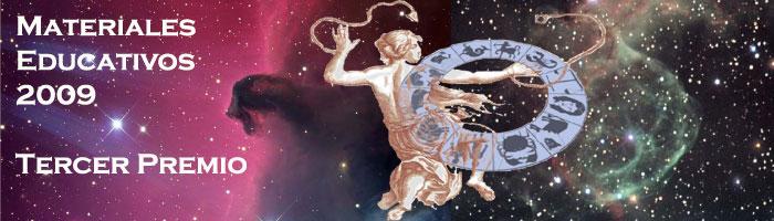 Dibujo de un dios mitológico sobre una fotografía del universo