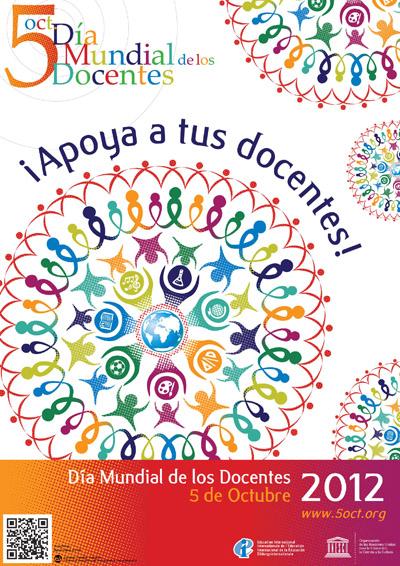Cartel oficial de Día mundia de los docentes